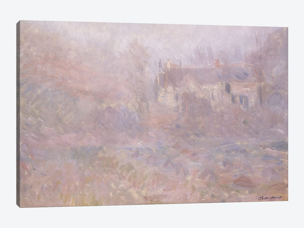 Houses at Falaise in the Fog, 1885  by Claude Monet 1-piece Canvas Art