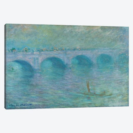 Waterloo Bridge in the Fog, 1903  Canvas Print #BMN6033} by Claude Monet Canvas Art