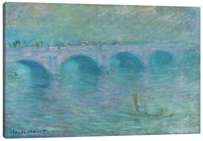 Waterloo Bridge in the Fog, 1903  Canvas Print #BMN6033