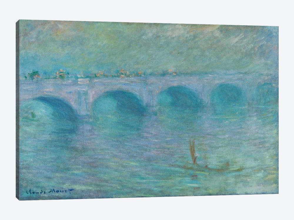 Waterloo Bridge in the Fog, 1903 by Claude Monet 1-piece Canvas Art Print