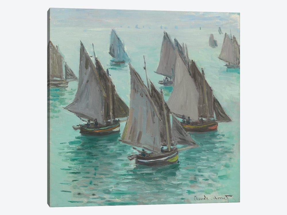 Fishing Boats, Calm Sea, 1868  by Claude Monet 1-piece Canvas Artwork