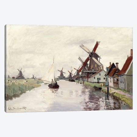 Windmill in Holland, 1871  Canvas Print #BMN6035} by Claude Monet Art Print