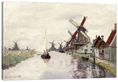 Windmill in Holland, 1871  Canvas Art Print