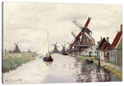 Windmill in Holland, 1871  Canvas Art Print