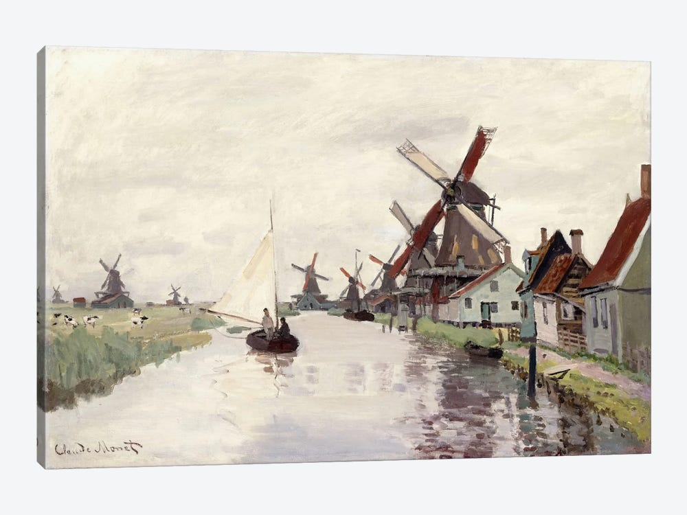 Windmill in Holland, 1871  by Claude Monet 1-piece Canvas Print