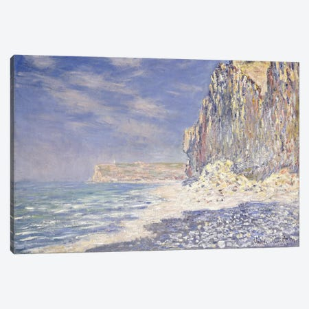 Cliff near Fecamp, 1881  Canvas Print #BMN6037} by Claude Monet Canvas Art Print