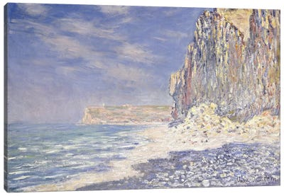 Cliff near Fecamp, 1881 Canvas Art Print