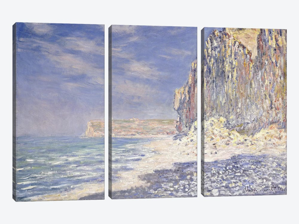 Cliff near Fecamp, 1881  3-piece Art Print