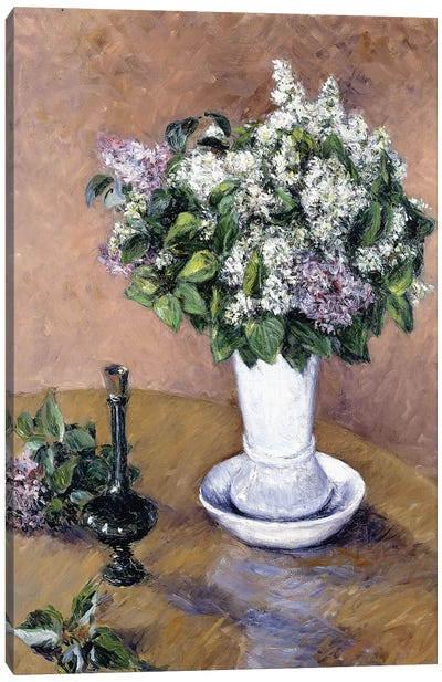 Still Life with a Vase of Lilac, 1883  Canvas Art Print