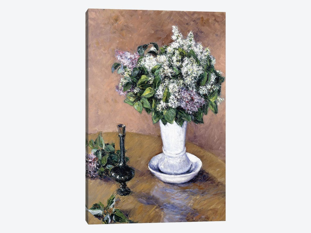 Still Life with a Vase of Lilac, 1883  by Gustave Caillebotte 1-piece Canvas Print