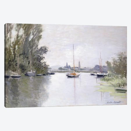 Argenteuil Seen from the Small Arm of the Seine, 1872  Canvas Print #BMN6040} by Claude Monet Canvas Print