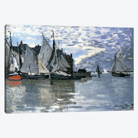 Sailing Boats, c.1864-1866  Canvas Print #BMN6041} by Claude Monet Canvas Art Print