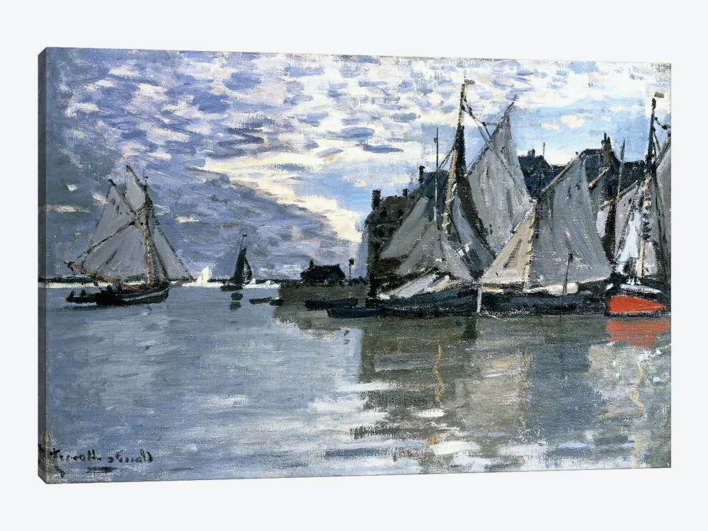 Sailing Boats, c.1864-1866 by Claude Monet 1-piece Canvas Wall Art