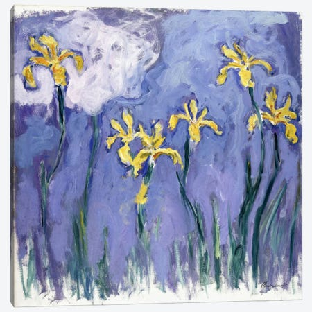 Yellow Iris with Pink Cloud, c.1918  Canvas Print #BMN6046} by Claude Monet Canvas Art