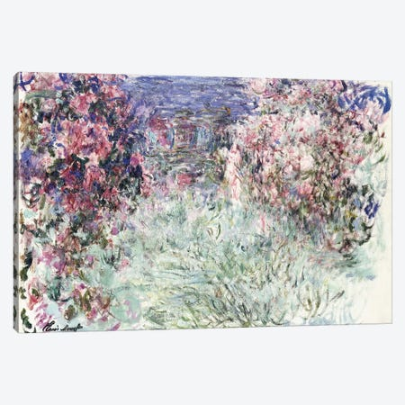 The House among the Roses, 1925  Canvas Print #BMN6047} by Claude Monet Canvas Artwork