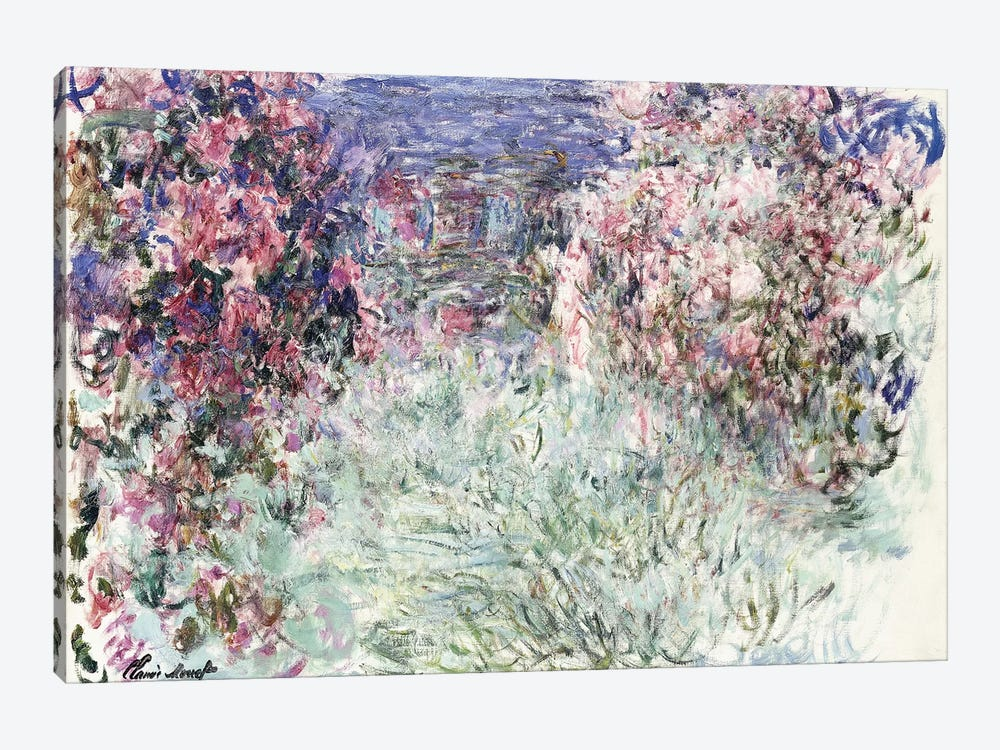 The House among the Roses, 1925  by Claude Monet 1-piece Canvas Wall Art
