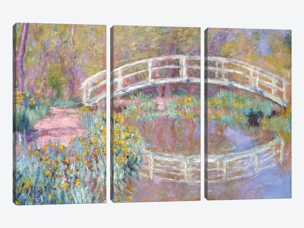 Bridge in Monet's Garden, 1895-96  by Claude Monet 3-piece Art Print