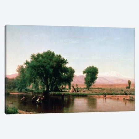Crossing the Ford, Platte River, Colorado  Canvas Print #BMN604} by Thomas Worthington Whittredge Art Print