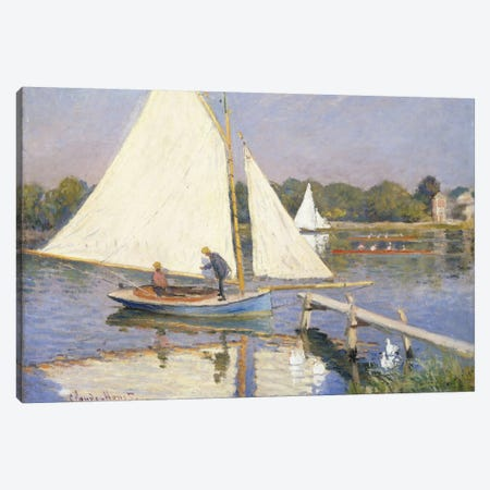 Boaters at Argenteuil, 1874  Canvas Print #BMN6050} by Claude Monet Canvas Artwork