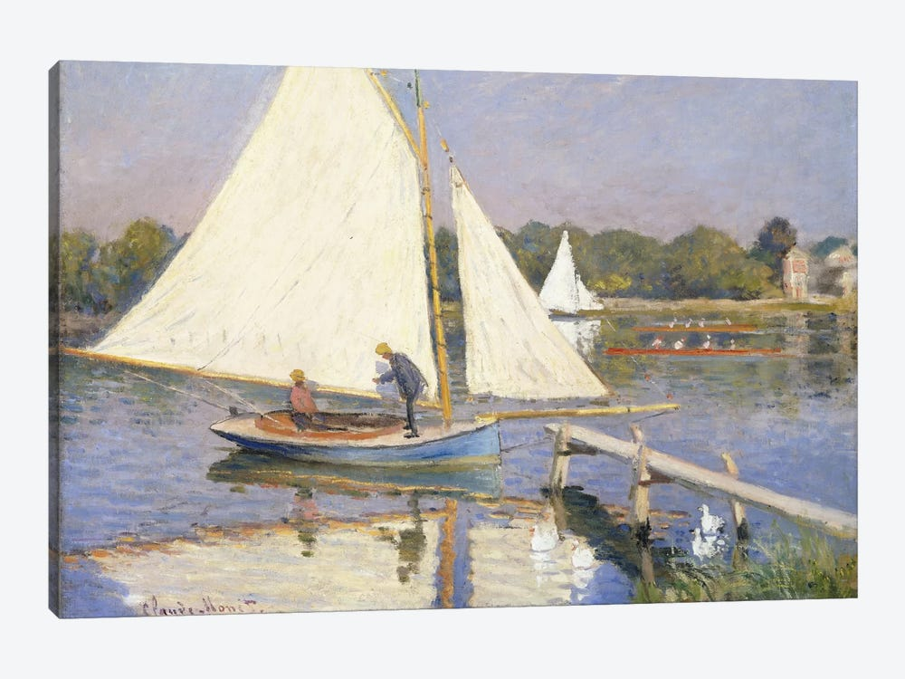 Boaters at Argenteuil, 1874 by Claude Monet 1-piece Canvas Artwork