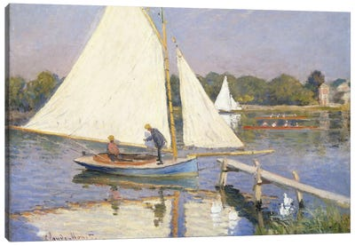 Boaters at Argenteuil, 1874  Canvas Art Print