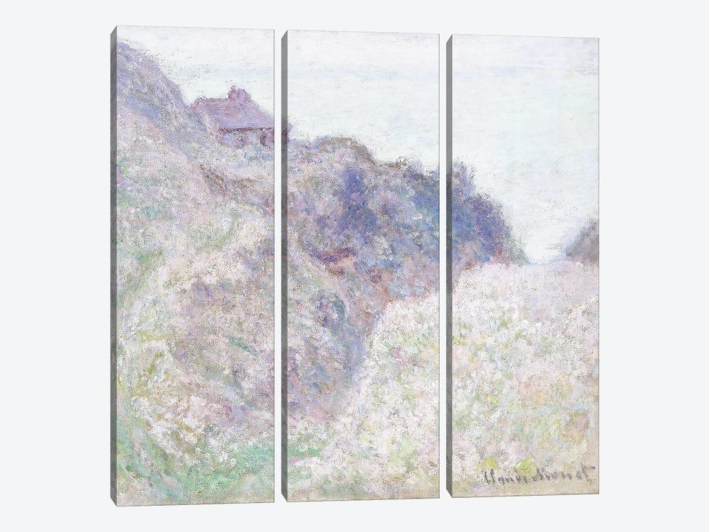 Cabane des Douaniers a Varengeville, 1897  by Claude Monet 3-piece Canvas Art Print