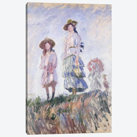 The Promenade, 1886 Canvas Print #BMN6053} by Claude Monet Canvas Artwork