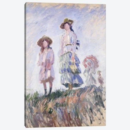 The Promenade, 1886 Canvas Print #BMN6053} by Claude Monet Canvas Artwork