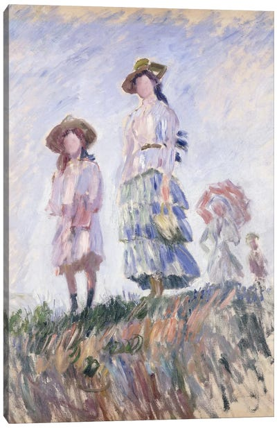 The Promenade, 1886 Canvas Art Print