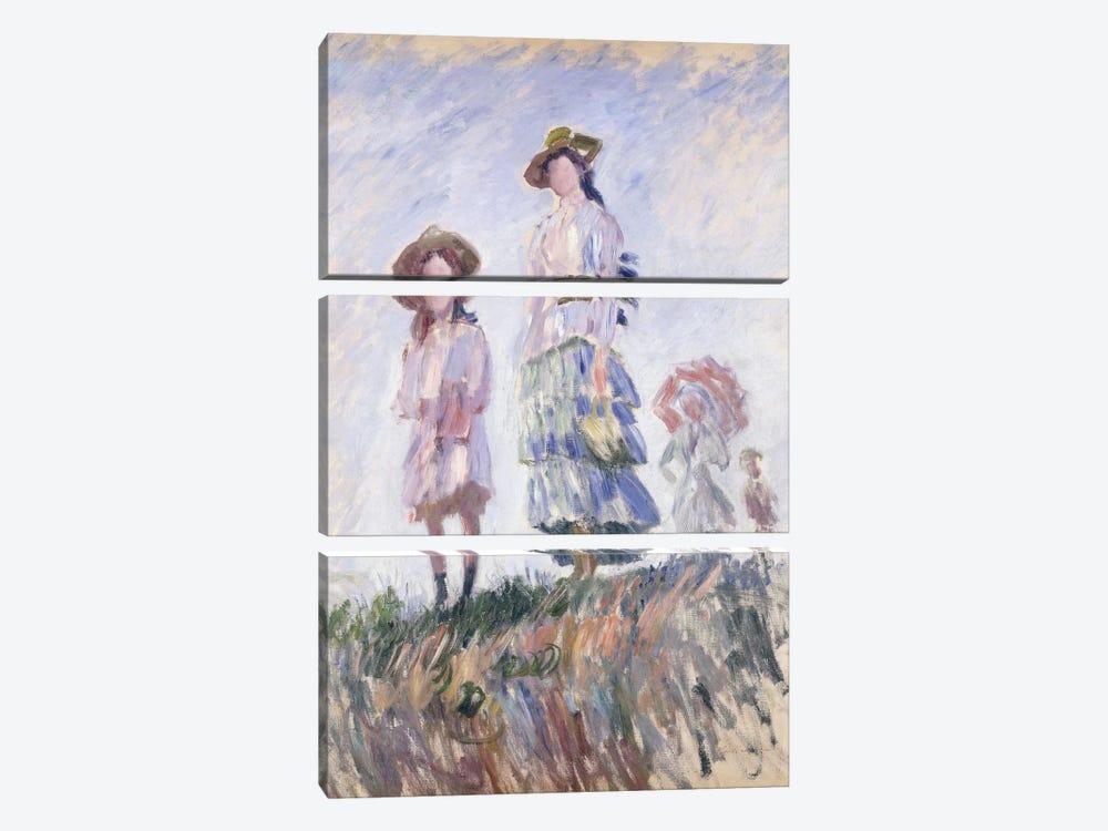 The Promenade, 1886 by Claude Monet 3-piece Canvas Print
