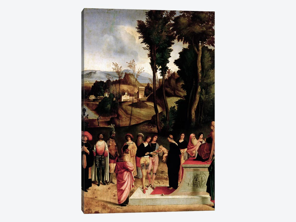 Moses being tested by the Pharaoh, c.1502-05  by Giorgio Giorgione 1-piece Canvas Artwork