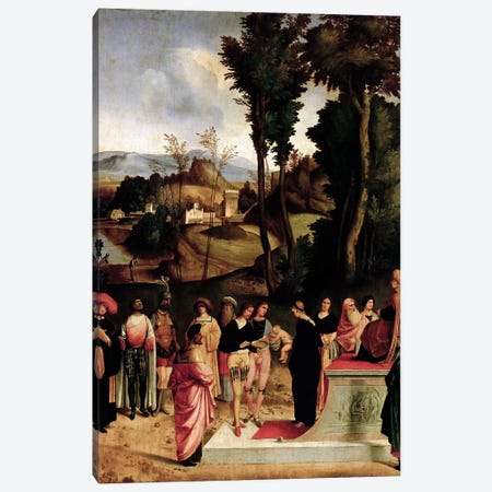 Moses being tested by the Pharaoh, c.1502-05  Canvas Print #BMN605} by Giorgio Giorgione Canvas Art Print