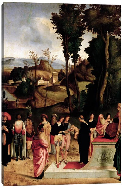 Moses being tested by the Pharaoh, c.1502-05  Canvas Art Print