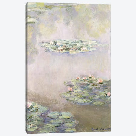 Nympheas, 1908  3-Piece Canvas #BMN6060} by Claude Monet Art Print
