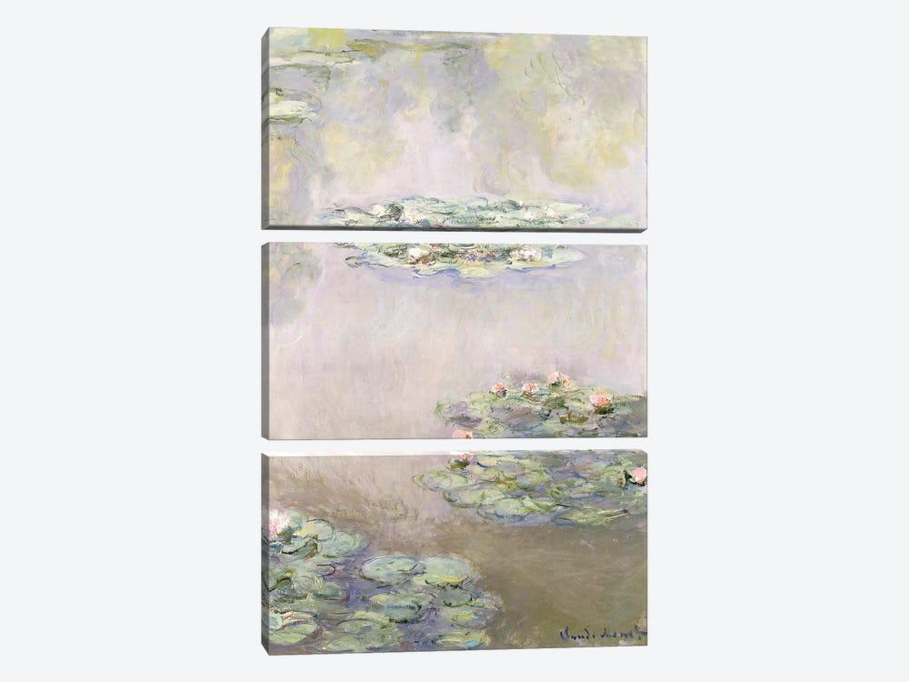 Nympheas, 1908  by Claude Monet 3-piece Art Print