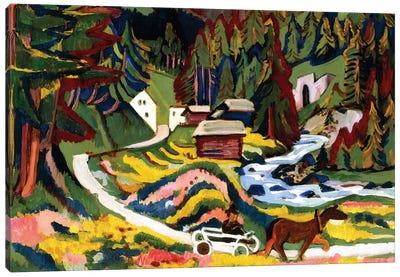 Landscape in Spring, Sertig, 1924-25  Canvas Art Print