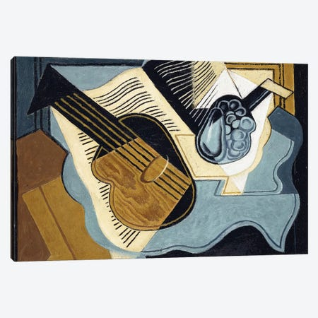 Guitar and Fruit-bowl, 1921  Canvas Print #BMN6063} by Juan Gris Canvas Art Print