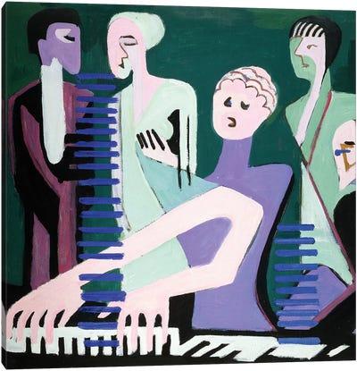 Singer on piano  Canvas Art Print
