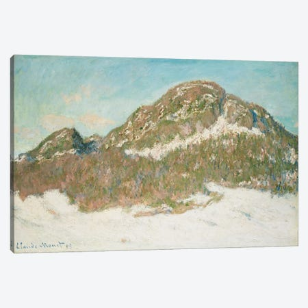 Mount Kolsaas, Sunlight Effect, 1895  Canvas Print #BMN6065} by Claude Monet Canvas Artwork