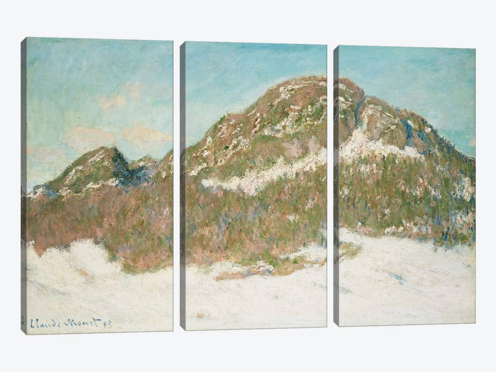 Mount Kolsaas, Sunlight Effect, 1895  by Claude Monet 3-piece Canvas Art