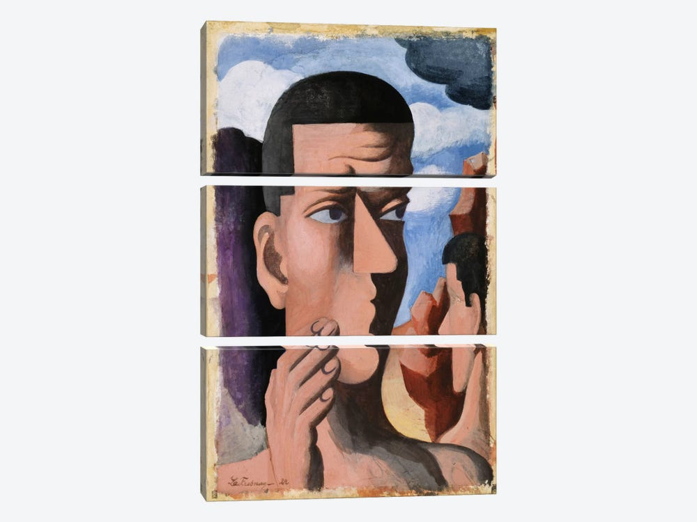 Castor and Pollux, 1922  by Roger de la Fresnaye 3-piece Canvas Wall Art