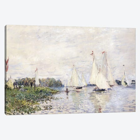 Regatta at Argenteuil, 1874  Canvas Print #BMN6072} by Claude Monet Canvas Wall Art