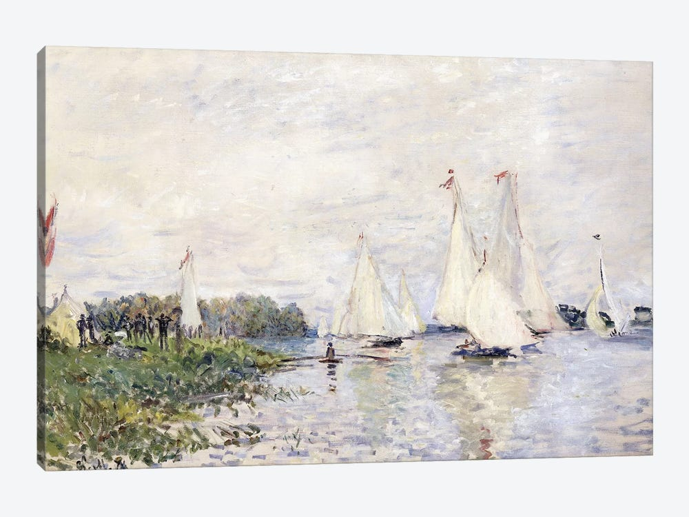 Regatta at Argenteuil, 1874  by Claude Monet 1-piece Canvas Art