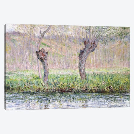 Spring, Willows, 1885  Canvas Print #BMN6073} by Claude Monet Canvas Wall Art