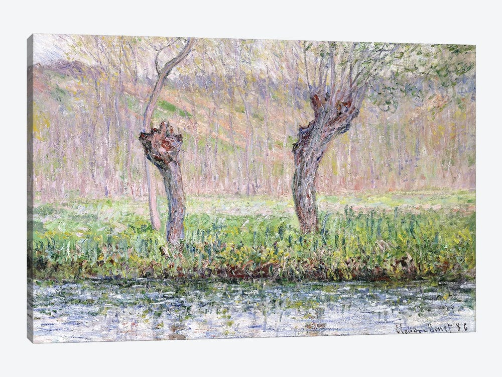 Spring, Willows, 1885  by Claude Monet 1-piece Art Print