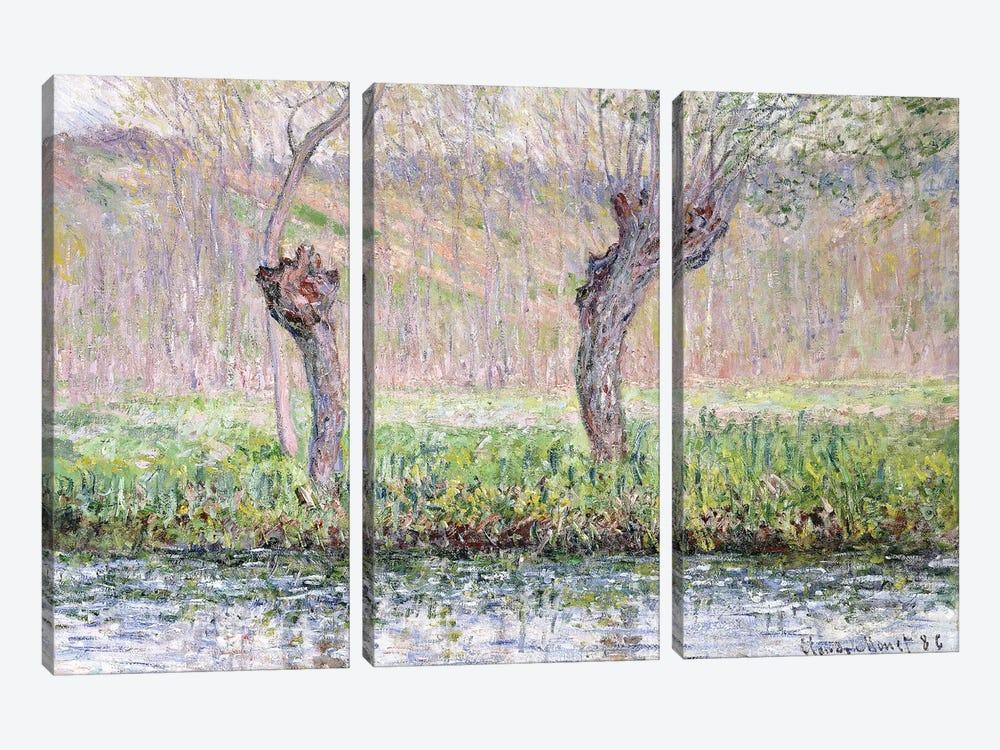 Spring, Willows, 1885  by Claude Monet 3-piece Art Print