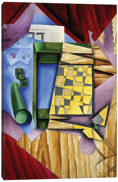 Backgammon, 1913-14  Canvas Art Print