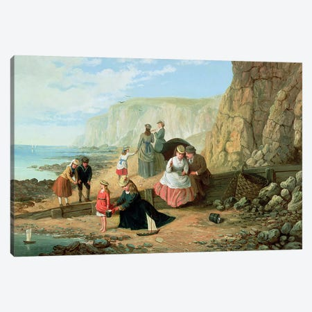 A Day at the Seaside Canvas Print #BMN607} by William Scott Art Print