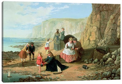 A Day at the Seaside Canvas Art Print
