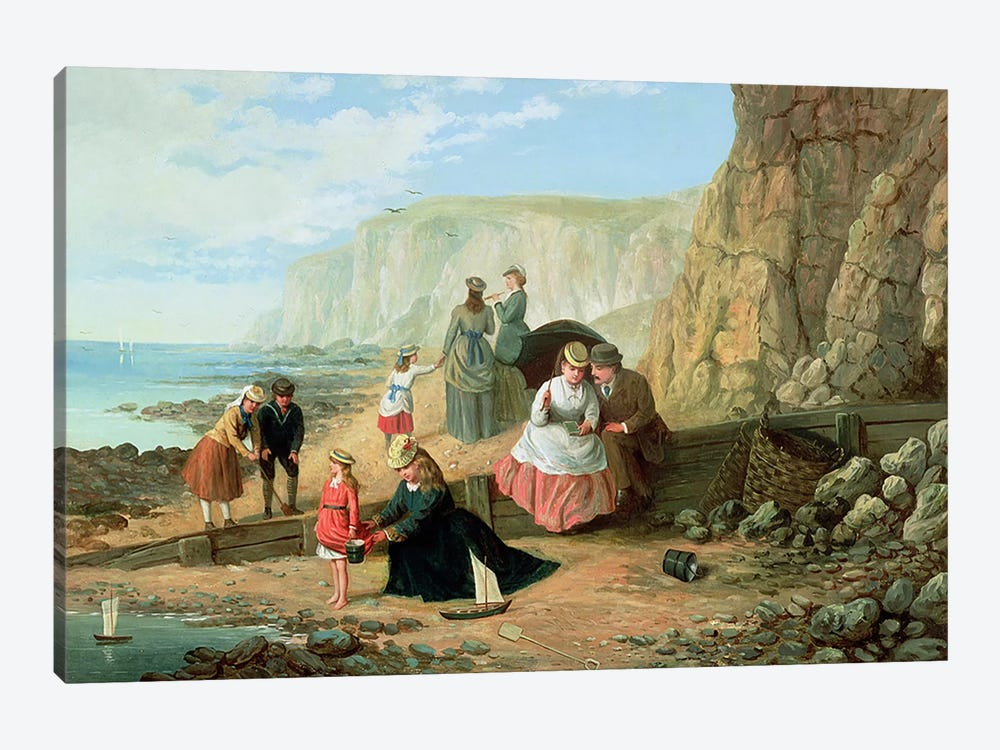A Day at the Seaside by William Scott 1-piece Canvas Artwork
